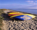 Colorful Boats by Jetties beach